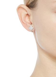 J.HARDYMENT 'Long Face Lobe Hugger' silver earrings