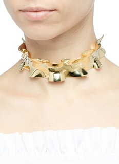 J.HARDYMENT 'Double Ruffle' 14k yellow gold silver ribbon choker