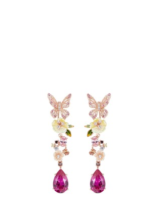 Main View - Click To Enlarge - Anabela Chan - 'Vine' sapphire drop 18k rose gold earrings