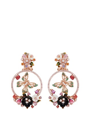 Main View - Click To Enlarge - Anabela Chan - 'Butterfly' 18k rose gold wreath earrings