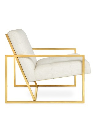 Detail View - Click To Enlarge - JONATHAN ADLER - Goldfinger lounge chair –Lucerne Oyster