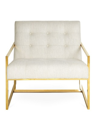 Main View - Click To Enlarge - JONATHAN ADLER - Goldfinger lounge chair –Lucerne Oyster