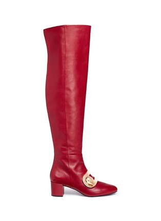 Main View - Click To Enlarge - Stella Luna - 'Stella XXL' turnlock buckle leather thigh high boots