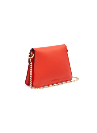 Detail View - Click To Enlarge - JW Anderson - 'Pierce' barbell ring mini leather crossbody bag