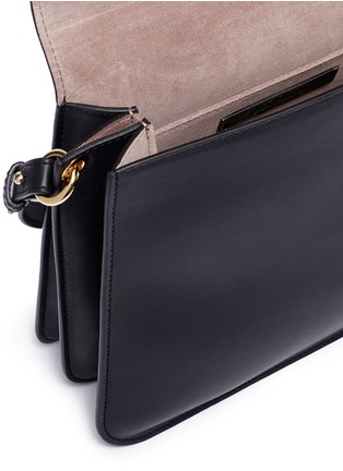 Detail View - Click To Enlarge - JW Anderson - 'Pierce' barbell ring medium leather shoulder bag