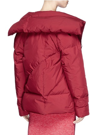 Back View - Click To Enlarge - Fengyi Tan - Tie front down puffer jacket
