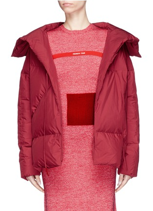 Main View - Click To Enlarge - Fengyi Tan - Tie front down puffer jacket