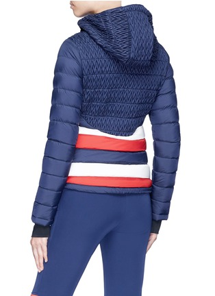 Back View - Click To Enlarge - Perfect Moment - 'Vale' colourblock stripe down puffer jacket