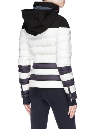 Detail View - Click To Enlarge - Perfect Moment - 'Polar' colourblock hooded down puffer jacket