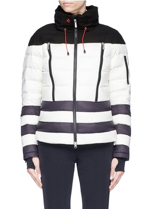 Main View - Click To Enlarge - Perfect Moment - 'Polar' colourblock hooded down puffer jacket