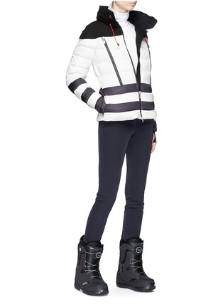 Figure View - Click To Enlarge - Perfect Moment - 'Polar' colourblock hooded down puffer jacket