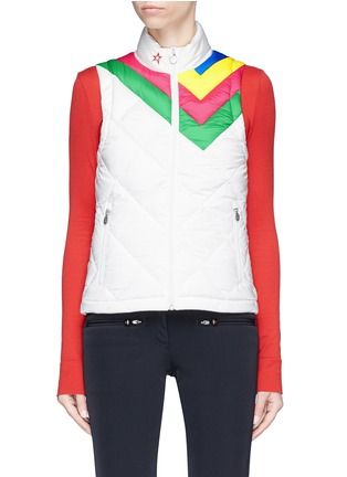 Main View - Click To Enlarge - Perfect Moment - 'Vale' rainbow stripe down puffer vest