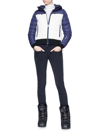 Figure View - Click To Enlarge - Perfect Moment - 'Cordon' colourblock down puffer jacket