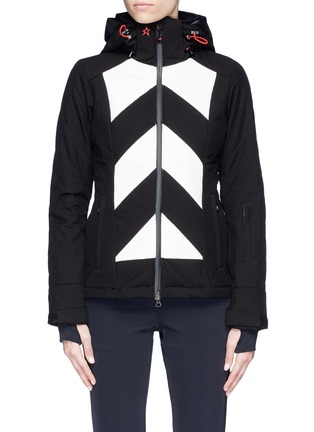 Main View - Click To Enlarge - Perfect Moment - 'Tignes' colourblock stripe ski jacket