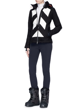 Figure View - Click To Enlarge - Perfect Moment - 'Tignes' colourblock stripe ski jacket