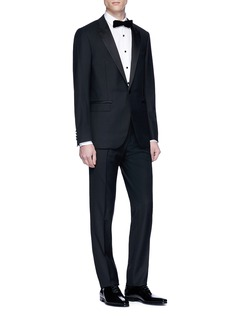 Lanvin Contrast button tuxedo shirt