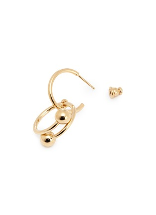 Detail View - Click To Enlarge - JW Anderson - 'Pierce Couple' interlocking barbell drop earrings