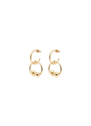 Main View - Click To Enlarge - JW Anderson - 'Pierce Couple' interlocking barbell drop earrings