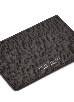 Detail View - Click To Enlarge - GLOBE-TROTTER - Jet name card holder – Graphite