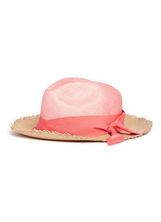 Sensi Studio Twist ribbon colourblock panama straw hat