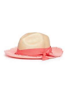 Sensi Studio Twist ribbon colourblock panama straw hat