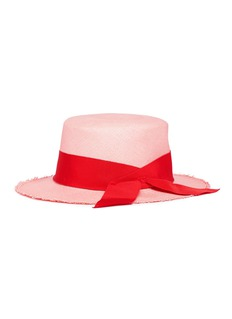 Sensi Studio Ribbon panama straw hat