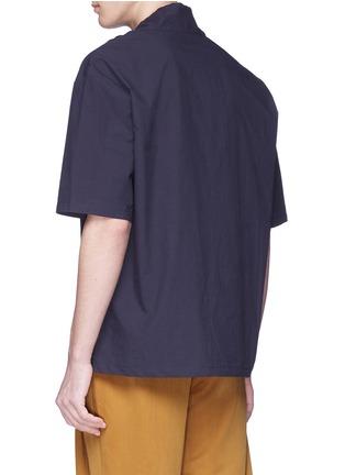 - FFIXXED STUDIOS - Drawstring collar unisex twill T-shirt
