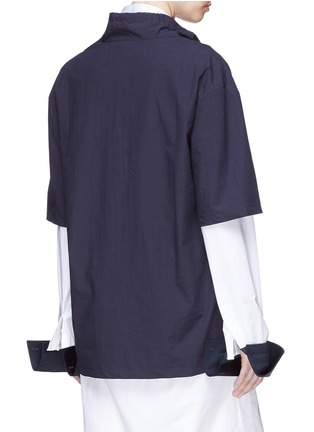 Back View - Click To Enlarge - FFIXXED STUDIOS - Drawstring collar unisex twill T-shirt