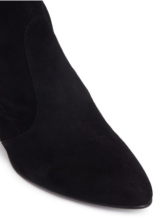Detail View - Click To Enlarge - Stuart Weitzman - 'Tie Model' stretch suede knee high boots
