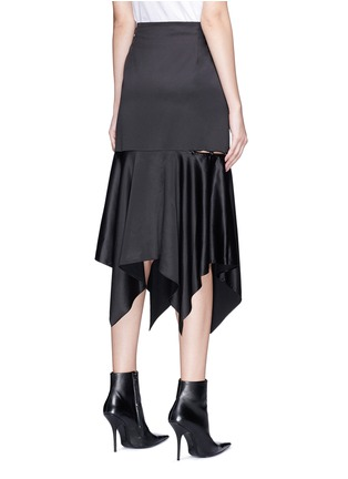 Back View - Click To Enlarge - YCH - Cutout side satin skirt