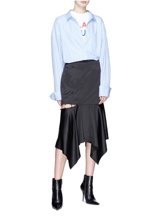 Figure View - Click To Enlarge - YCH - Cutout side satin skirt