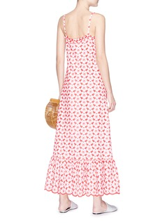 Lisa Marie Fernandez Belted floral broderie anglaise maxi dress
