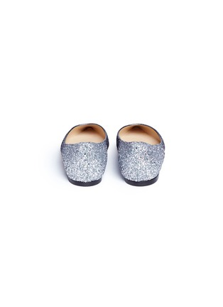 Back View - Click To Enlarge - Jimmy Choo - 'Romy' dégradé coarse glitter skimmer flats