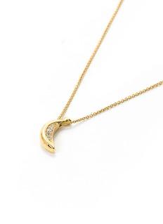 Sophie Bille Brahe 'Banane Josephine' diamond 14k yellow gold pendant necklace