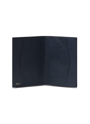 - VALEXTRA - Leather passport holder –Dark Blue