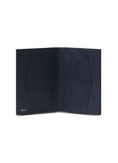 Valextra Leather passport holder – Dark Blue