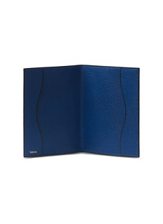 Valextra Leather passport holder – Royal Blue
