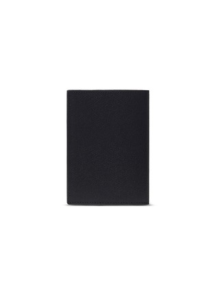 Main View - Click To Enlarge - VALEXTRA - Leather passport holder – Black