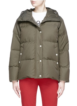 Main View - Click To Enlarge - rag & bone - 'Leonard' lace-up outseam hooded down puffer coat
