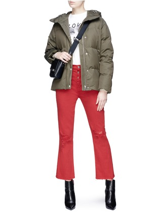 Figure View - Click To Enlarge - rag & bone - 'Leonard' lace-up outseam hooded down puffer coat