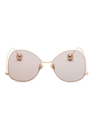 54b54a0ab1 72794. Sphere tip butterfly metal sunglasses. US 240 US 144. AEJ439. Sold  Out  SALE. 72794 Metal front tortoiseshell acetate square aviator sunglasses