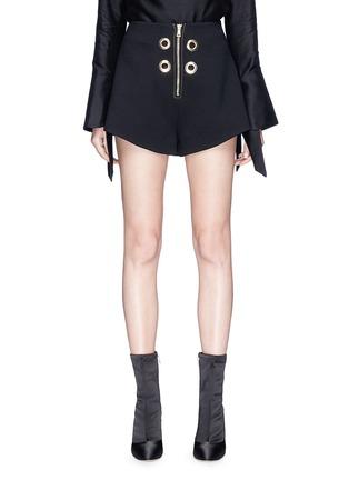 Main View - Click To Enlarge - Elissa McGowan - 'La Pirate' eyelet crepe shorts