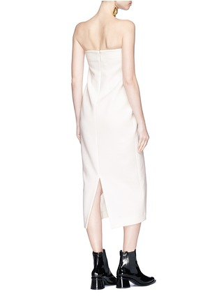 Figure View - Click To Enlarge - Elissa McGowan - 'Hepworth' cutout front strapless crepe midi dress