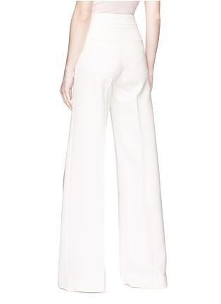Back View - Click To Enlarge - Elissa McGowan - 'Schlegel' crepe wide leg pants