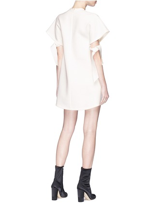 Back View - Click To Enlarge - Elissa McGowan - 'Atoll' tie sleeve crepe mini dress