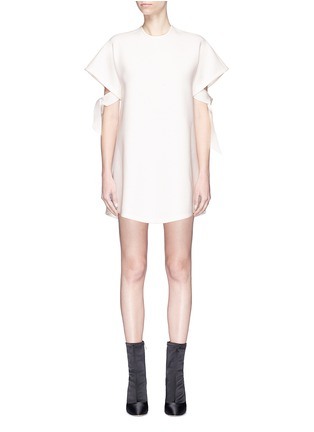 Main View - Click To Enlarge - Elissa McGowan - 'Atoll' tie sleeve crepe mini dress