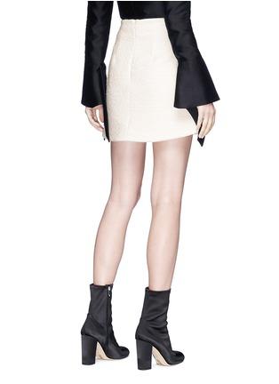 Back View - Click To Enlarge - Elissa McGowan - 'Ceramique' mixed button bouclé mini skirt