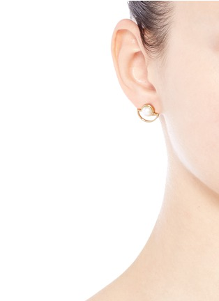 Figure View - Click To Enlarge - Lulu Frost - 'Lilas' freshwater pearl stud earrings