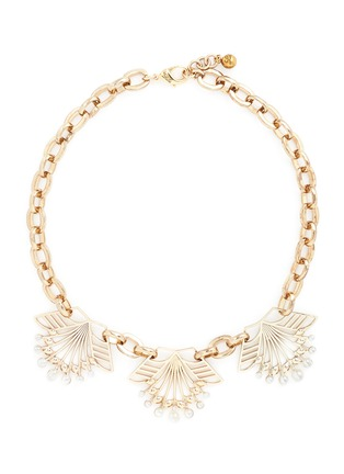 Main View - Click To Enlarge - Lulu Frost - 'Alesia' freshwater pearl floral chain necklace