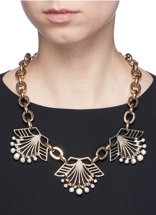 Figure View - Click To Enlarge - Lulu Frost - 'Alesia' freshwater pearl floral chain necklace